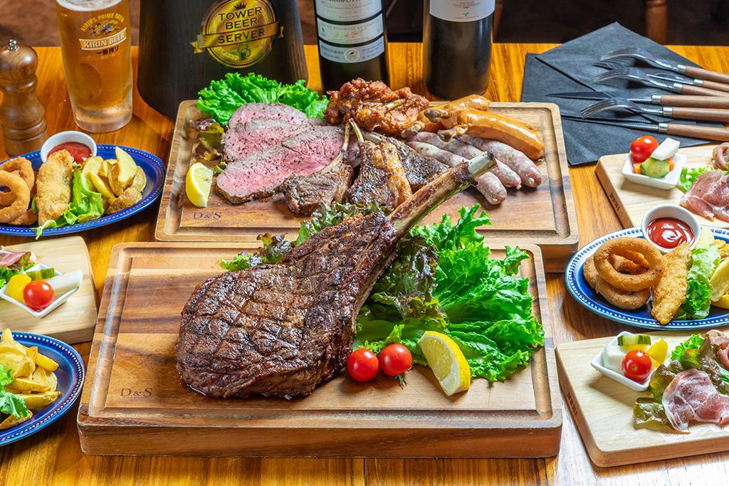 トマホークステーキ&肉盛りコース