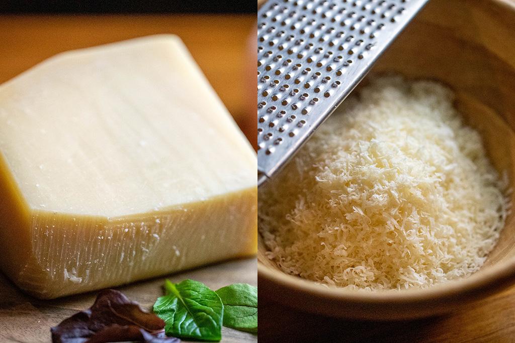 チーズの王様、パルミジャーノ・レッジャーノを削ったもの
